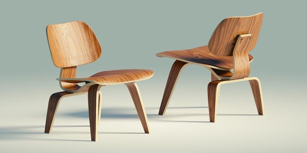 chair wood eames