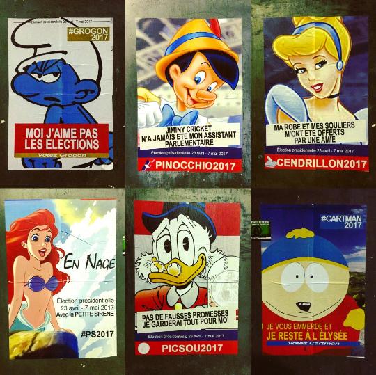 Les candidats détournés en personnages de Disney Image via Instagram