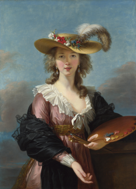 "Élisabeth Vigée Le Brun, ""Self Portrait in a Straw Hat"", efter 1782, National Gallery London"