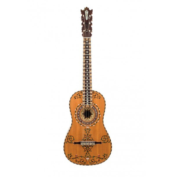 Guitare baroque construite par Marcelino López Nieto entre 1974 et 2001