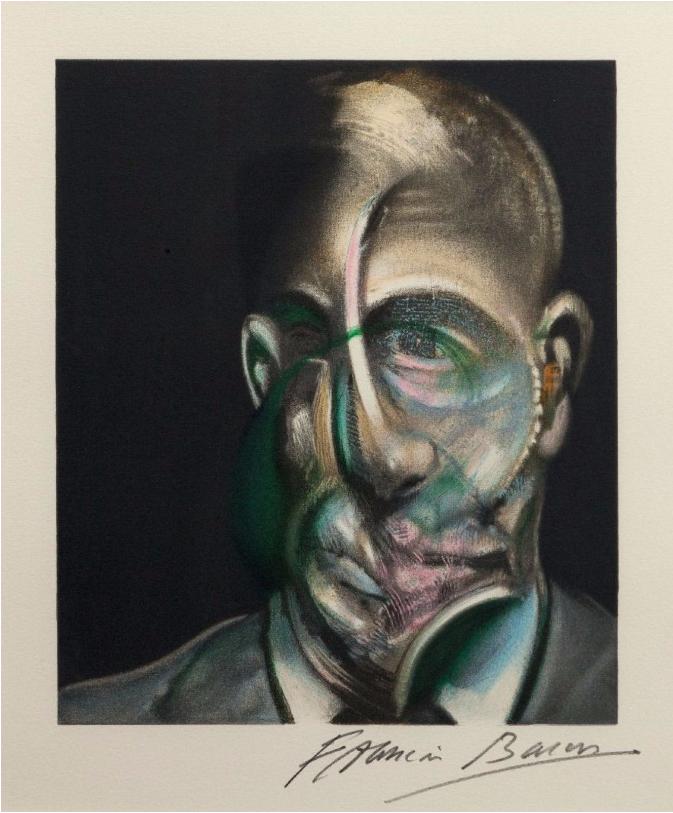 Planche IV, portrait de Michel Leiris. Sur feuillet Image via Morand