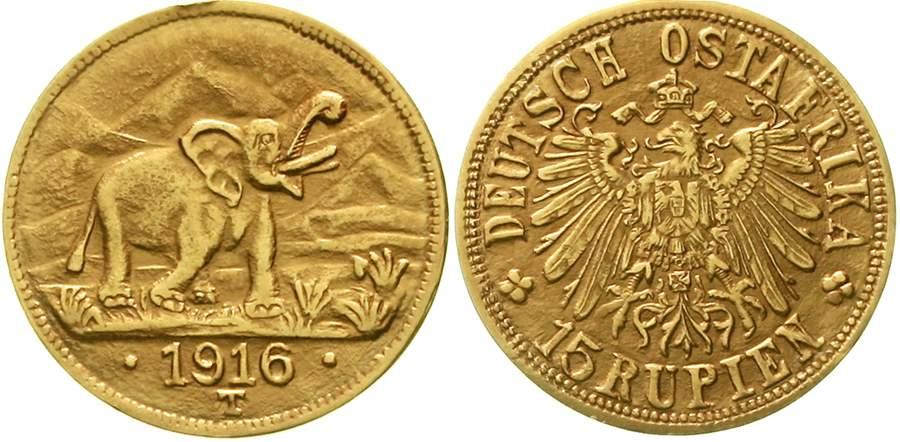 Deutsch-Ostafrika 15 Rupien aus Tabora 1916