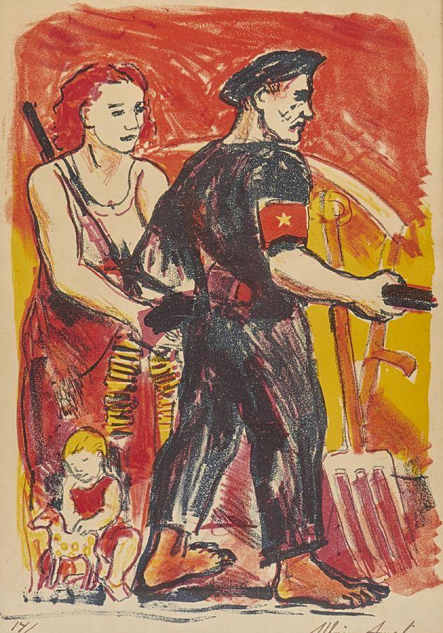 Färglitografi. Albin Amelin (1902-1975), 14/200, 35x24. Utrop: 800 Sek. Metropol Auktioner