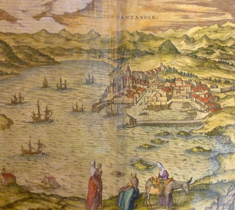 Französische Aufzeichnungen ohne Editionsdaten, Vista de Santander, ca. 1590 Ausrufpreis: 400 EUR