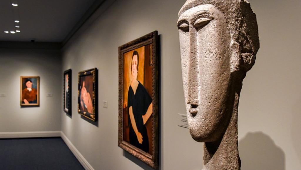 Des oeuvres de Modigliani à la National Gallery of Art à Washington Image: Bill O'Leary/The Washington Post via Getty Images