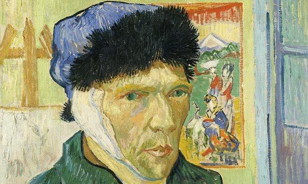 Porträtt med bandagerat öra, 1889.