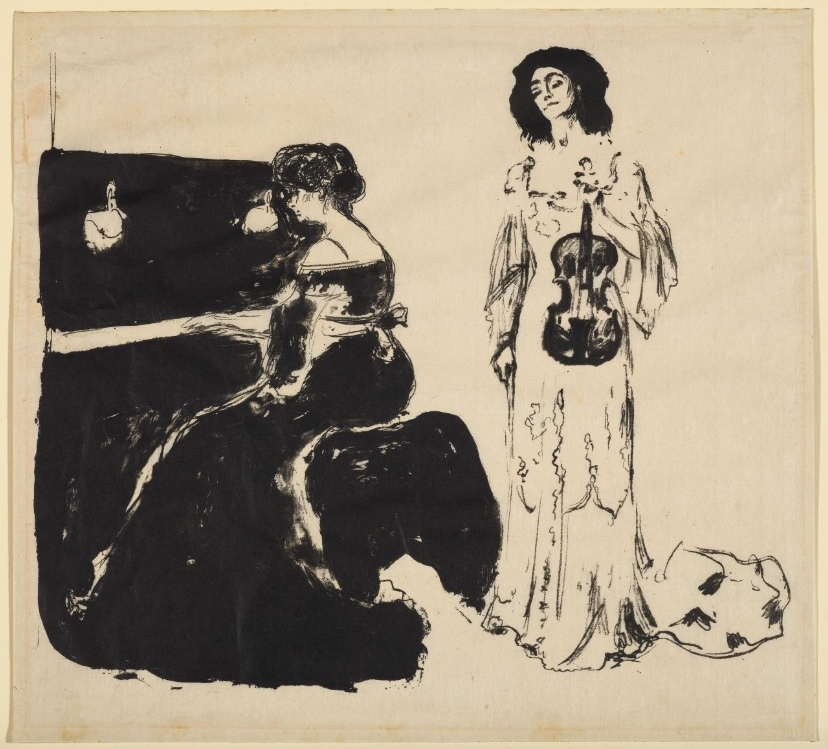 Edvard Munch, Violin concert, lithograph, signed 1903