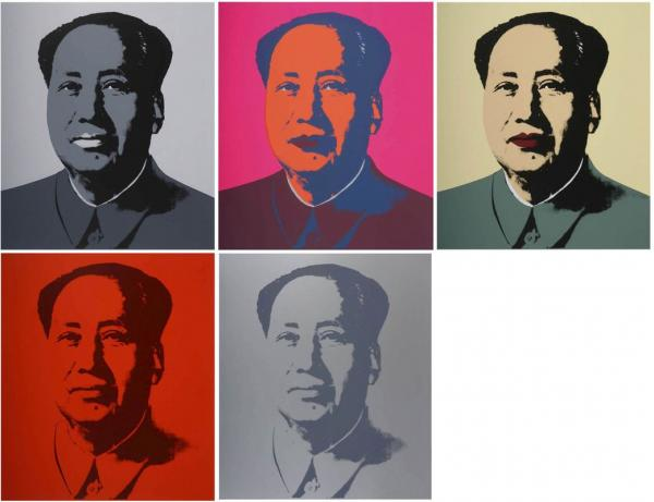 Andy Warhol, Mao, Portfolio of 5 lithographs On sale at Accademia Fine Art