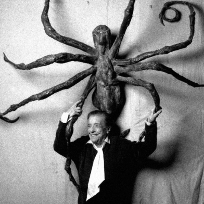 "Louise Bourgeois med ""Spider V"" (1966) Foto: Quotesgram.com"