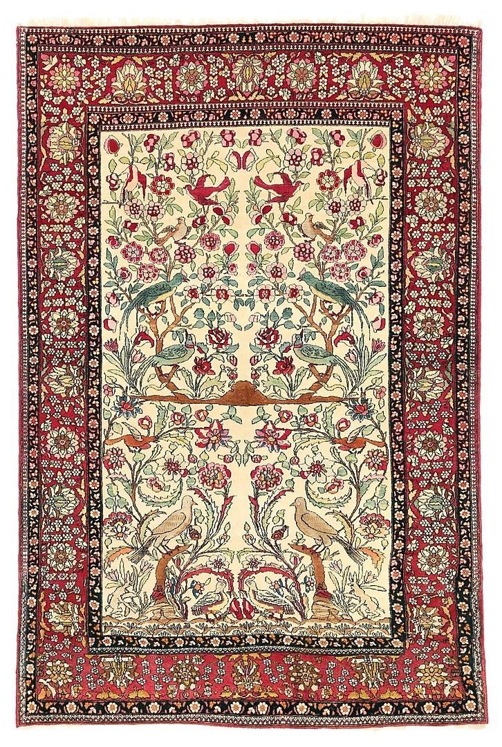 Matta Isfahan, Semi-antik, 213 x 143 cm. Utropspris: 11.000 SEK. Göteborgs Auktionsverk