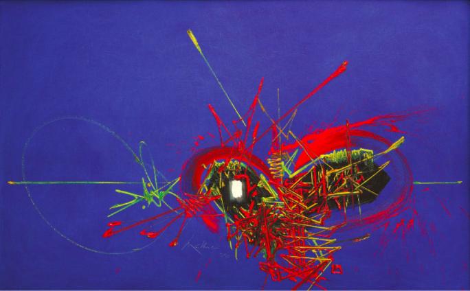 Georges Mathieu, 'Scarlet Dreams', 1970. Photo: Leclere