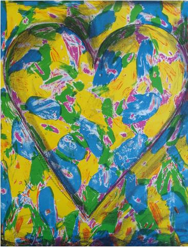 "Jim Dine (USA, 1935), ""Blue Heart"", 2005. Litografi i färg, signerad ."