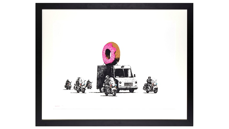 BANKSY (*1974) - Donut (Strawberry), 2009