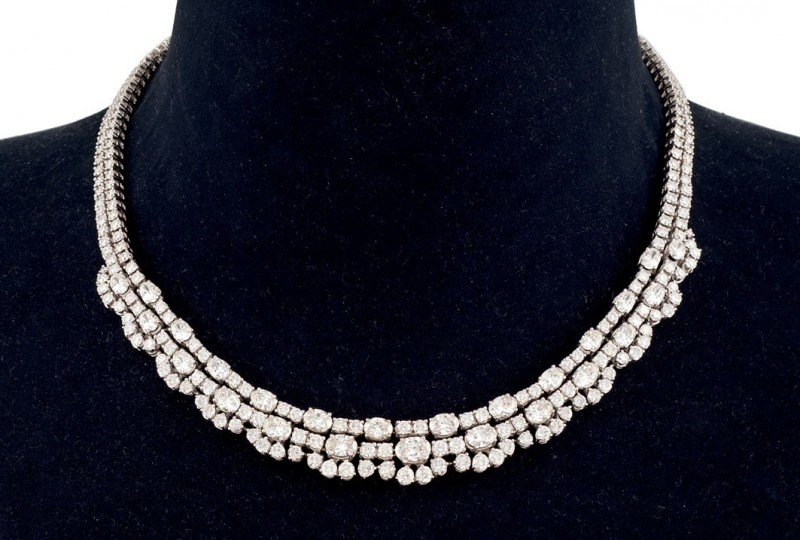 White gold necklace. Photo: Durán Arte y Subastas.