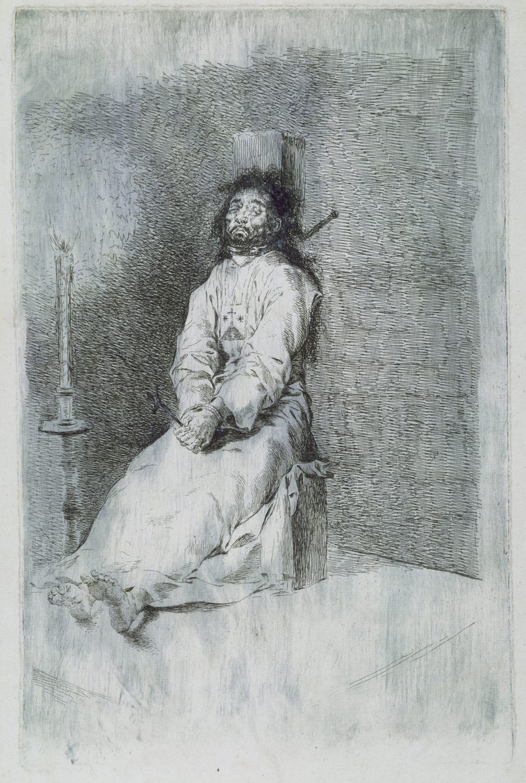 Francisco de Goya, The Garrotted Man (El agarrotado) 1778-80Image: The Met