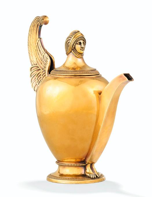 Seltene vergoldete Teekanne von Marie-Joseph-Gabriel Genu, Paris 1798-1809
