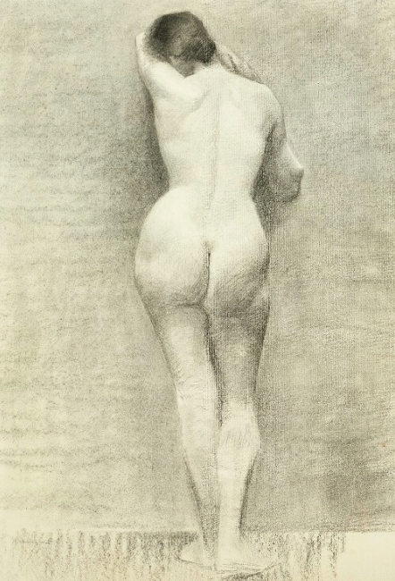 Marie Krøyer, Back Turned Female Model. Foto: Bruun Rasmussen.