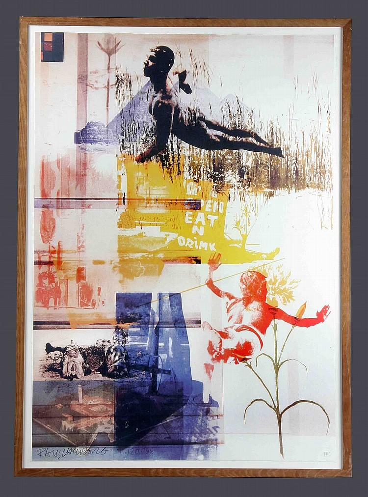 """ROBERT RAUSCHENBERGH. """"Rauschenbergh at San Lazzaro, Venecia"""" (1996)"""
