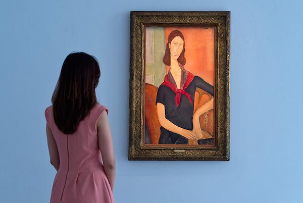 Amadeo Modiglianis porträtt på hans mest lojala musa,