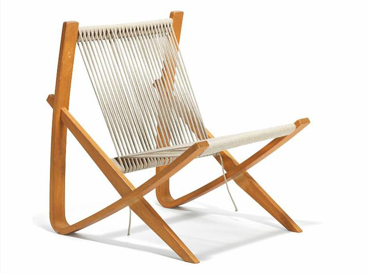 """""""Chaise Bow par Poul Kjaerholm est à partir de 1952 et est l'un des deux prototypes fabriqués de la chaise"""
