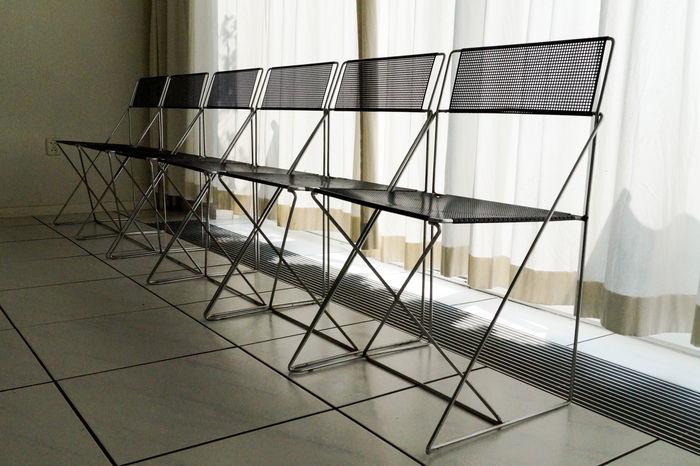 Niels Jørgen Haugesen - 6 X-line chairs, Denmark, 1977
