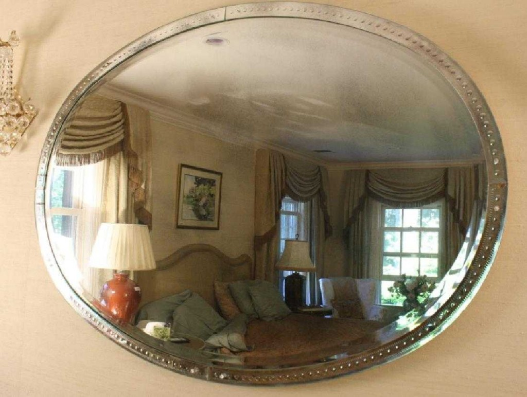 Large Marsh Dots oval mirror