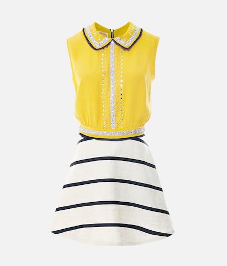 Embroidered Clinched Waist Mini Dress, Suno. Estimate $800 - $1,200. Photo via Paddle8