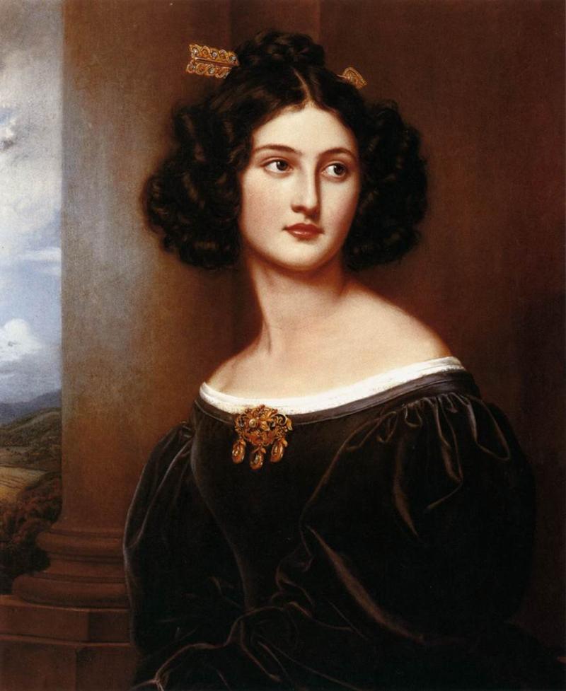"Joseph Karl Stieler, ""Nanette Kaula"" 1829"
