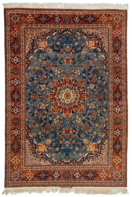 Isfahan - mönster av blommor, rankor och palmetter , 230 x 330 cm. Undertecknad Mustafa Ibrahim Pour.
