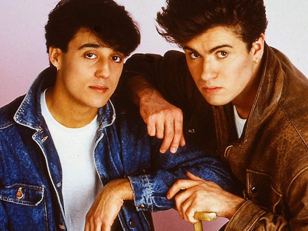 "From 1981 to 1986, George Michael and Andrew Ridgeley collaborated under the name ""Wham!"" Photo via amazon.com"