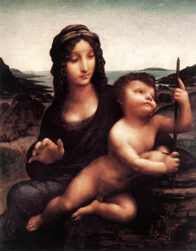 Leonardo Da Vinci - Madonna mit der Spindel (Buccleuch Madonna)
