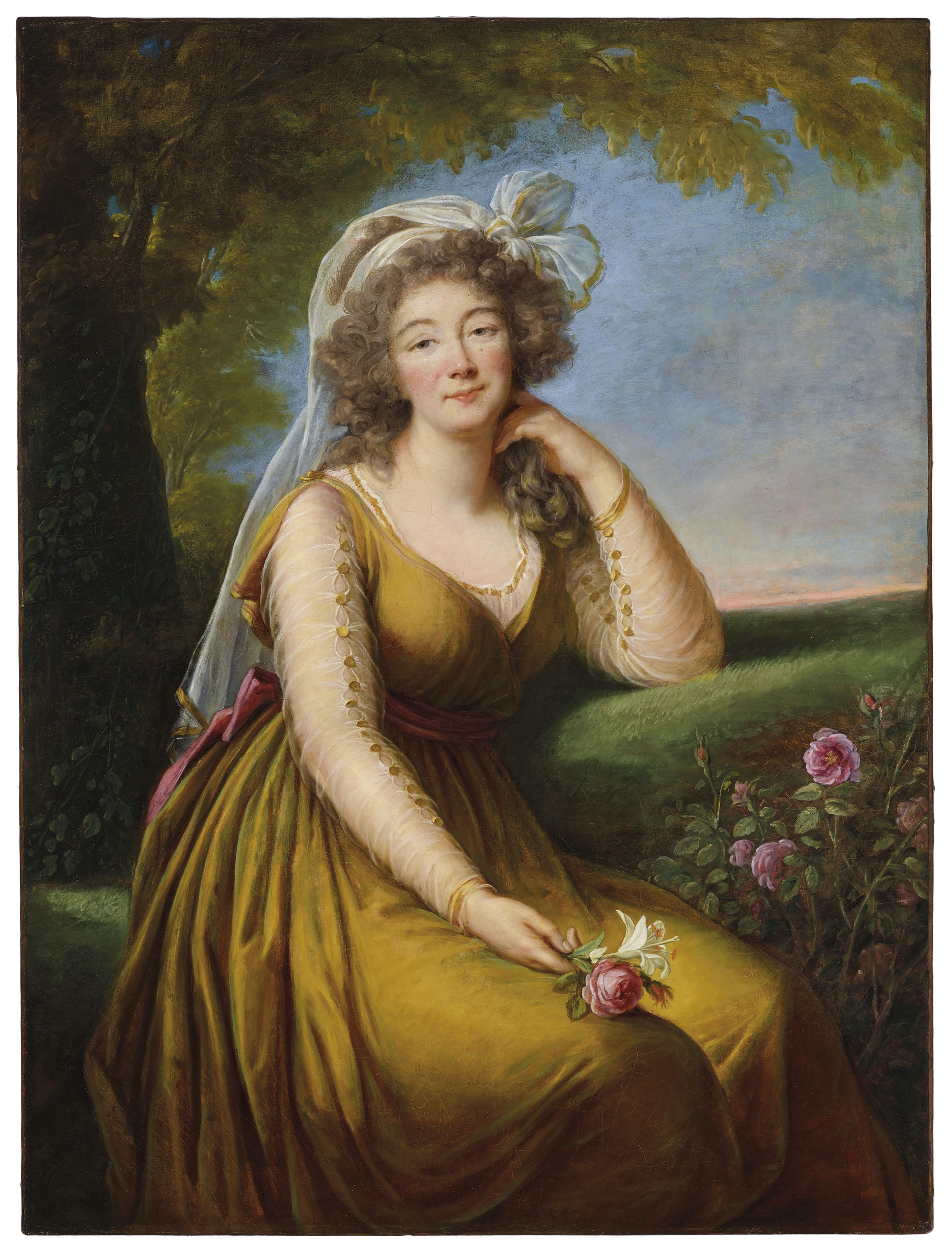 Portrait of Madame du Barry, Élisabeth-Louise Vigée Le Brun. 1789, oil on canvas. Image: Christie's