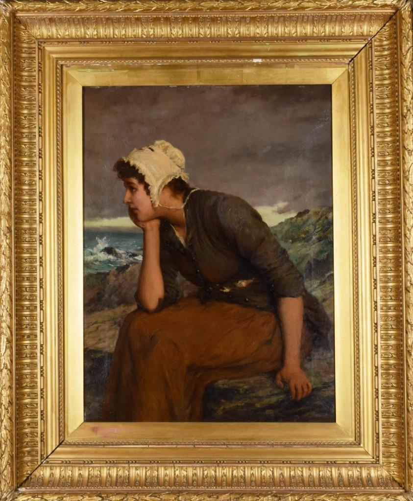 William Olivers, kvinnoporträtt. Bild: Norrlands Auktionsverk