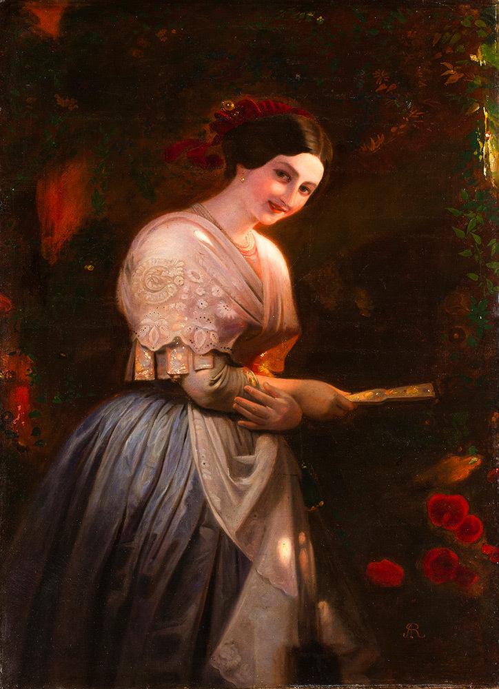 August Riedel (Bayreuth 1799 – Rome 1883) - Vittoria Caldoni in Albanian costume