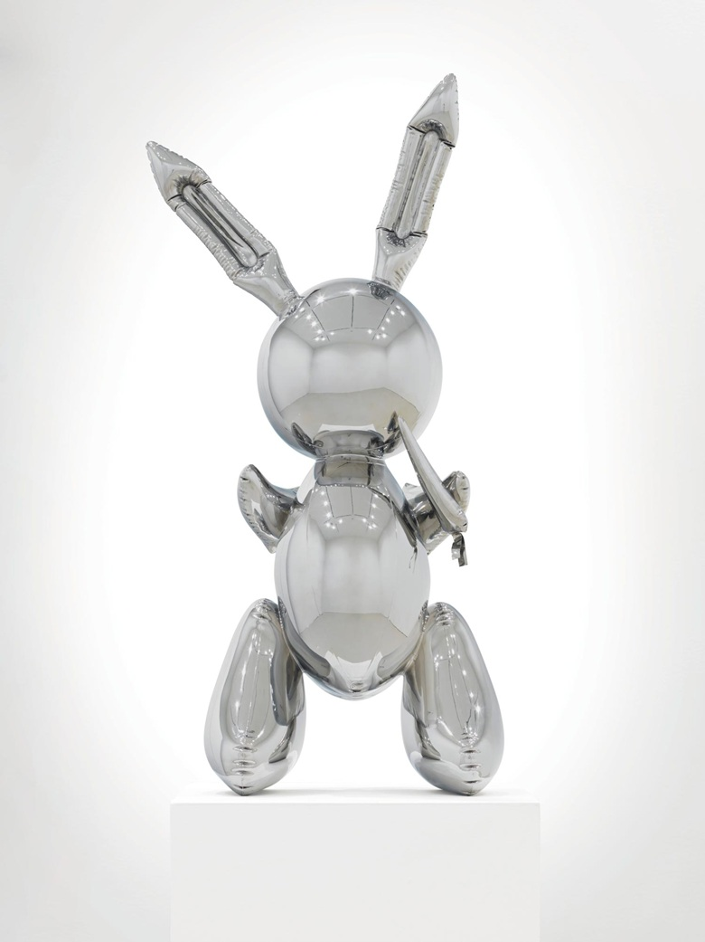 Jeff Koons (b. 1955), Rabbit, 1986. Stainless steel. Image: Christie's