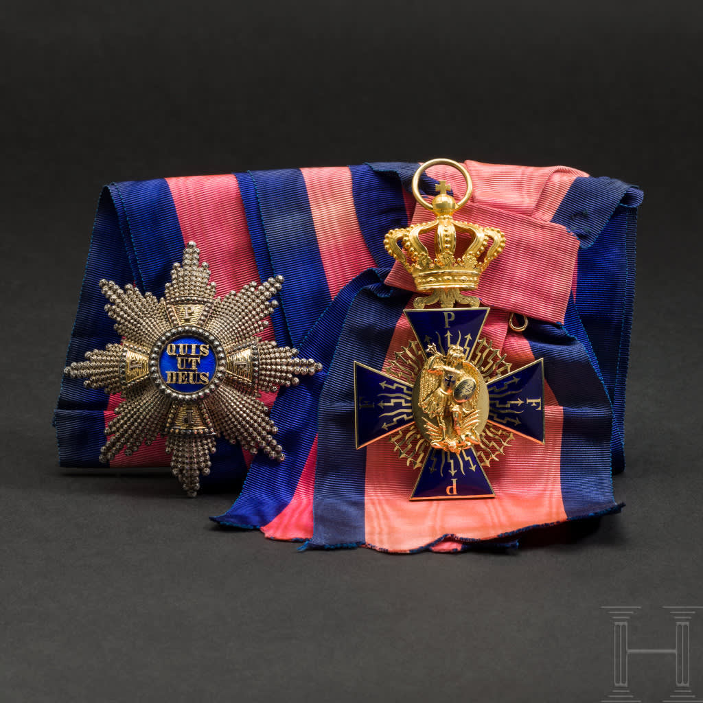 Wilhelm Freiherr von Leonrod - A Grand Cross set of the Bavarian Merit Order of St. Michael.