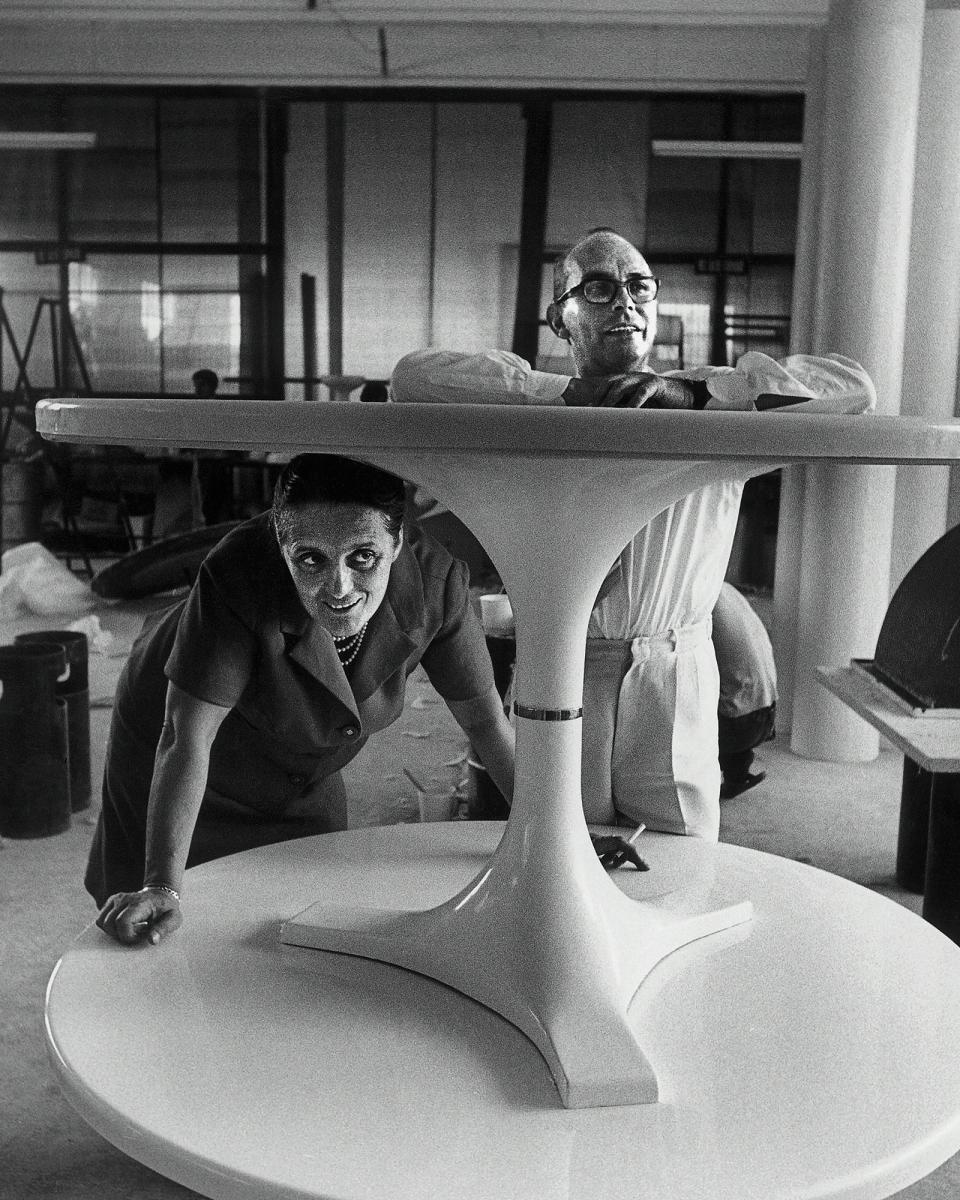 Les fondateurs de Kartell Anna Ferrieri Castelli & Giulio Castelli (1967) Photo © Museo Kartell