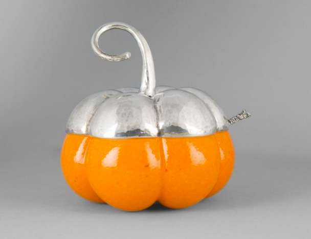 Gianmaria Buccellati. Silver and glass pumpkin sugar bowl Expertissim