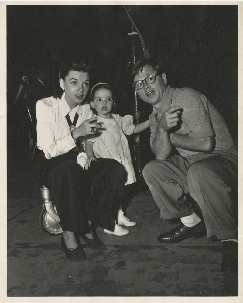 Judy Garland, Liza Minnelli and Mickey Rooney. Photo: Profiles in History.