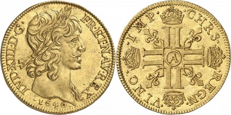 FRANCE. Louis XIII (1610-1643). Double louis d'or 1640, Paris MDC Monaco