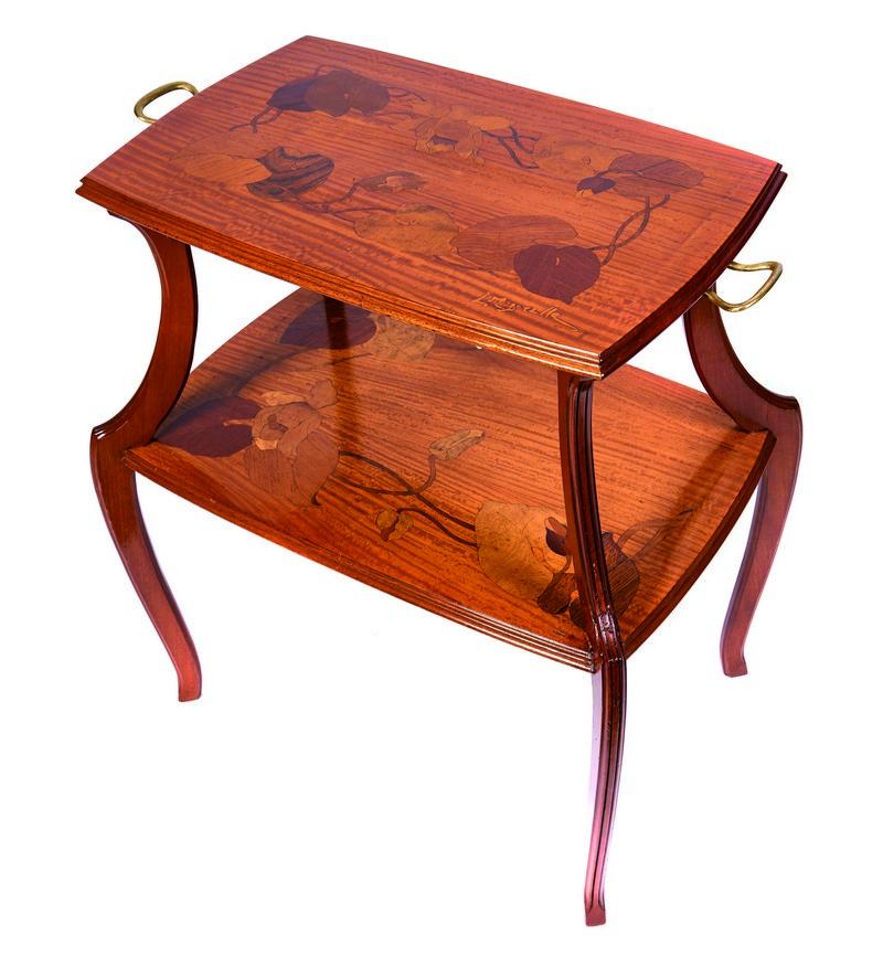 LOUIS MAJORELLE. Mesa de té Art Nouveau. Firmada (c. 1900)