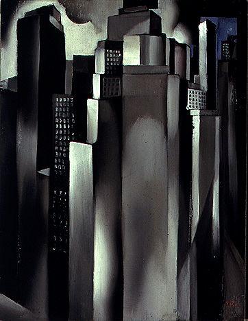 Tamara de Lempicka, « Gratte-ciels », 1929, image via DeLempicka.org