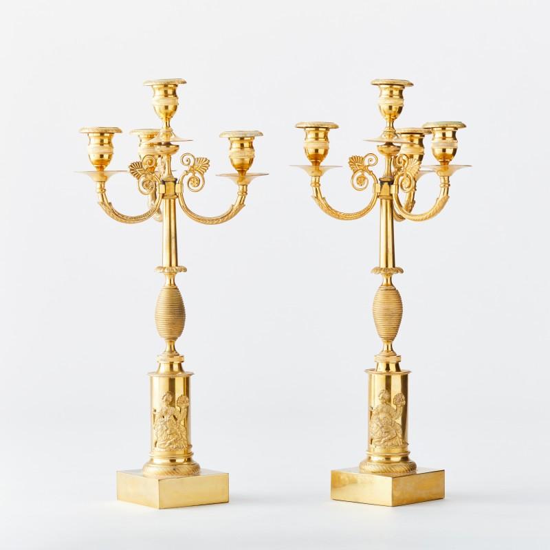Ett par kandelabrar, Stockholmsarbeten. Foto: Uppsala Auktionskammare.