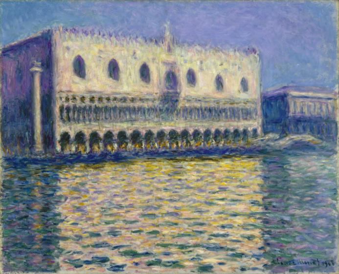 Toile exposée à Brooklyn Mew-York, Claude Monet, Le Palais Ducal, 1908, image ©Brooklyn Museum