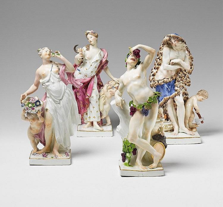"""Four Meissen porcelain figures """"The Four Seasons"""""""