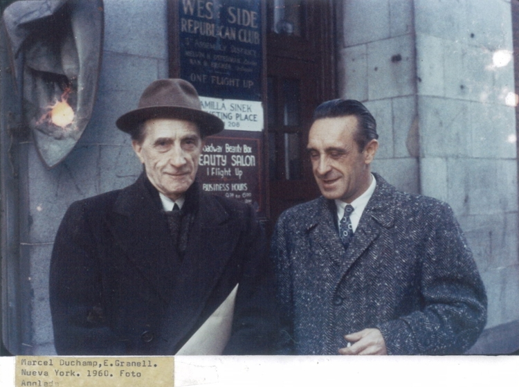 Marcel Duchamp and Eugenio Granell in 1950s