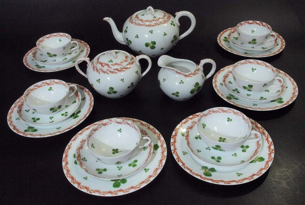 NYMPHENBURG - Teeservice für 6 Personen, um 1900