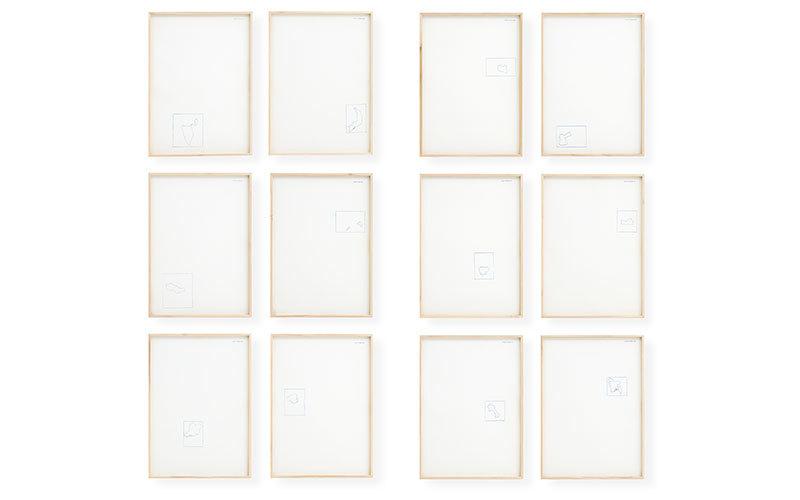 """Alighiero Boetti - """"Occupied Territories"""", 12 litografier, signerade 1971. Utropspris: 75,000 SEK. Della Rocca."""