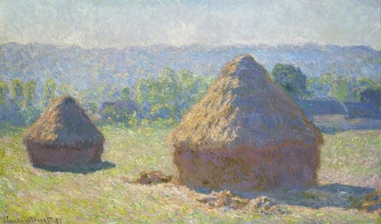 Höstackar, slutat av sommaren - 1891 av Claude Monet, courtesy Musée d'Orsay