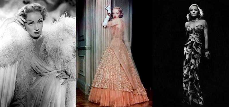Marlene Dietrich vestida por Christian Dior